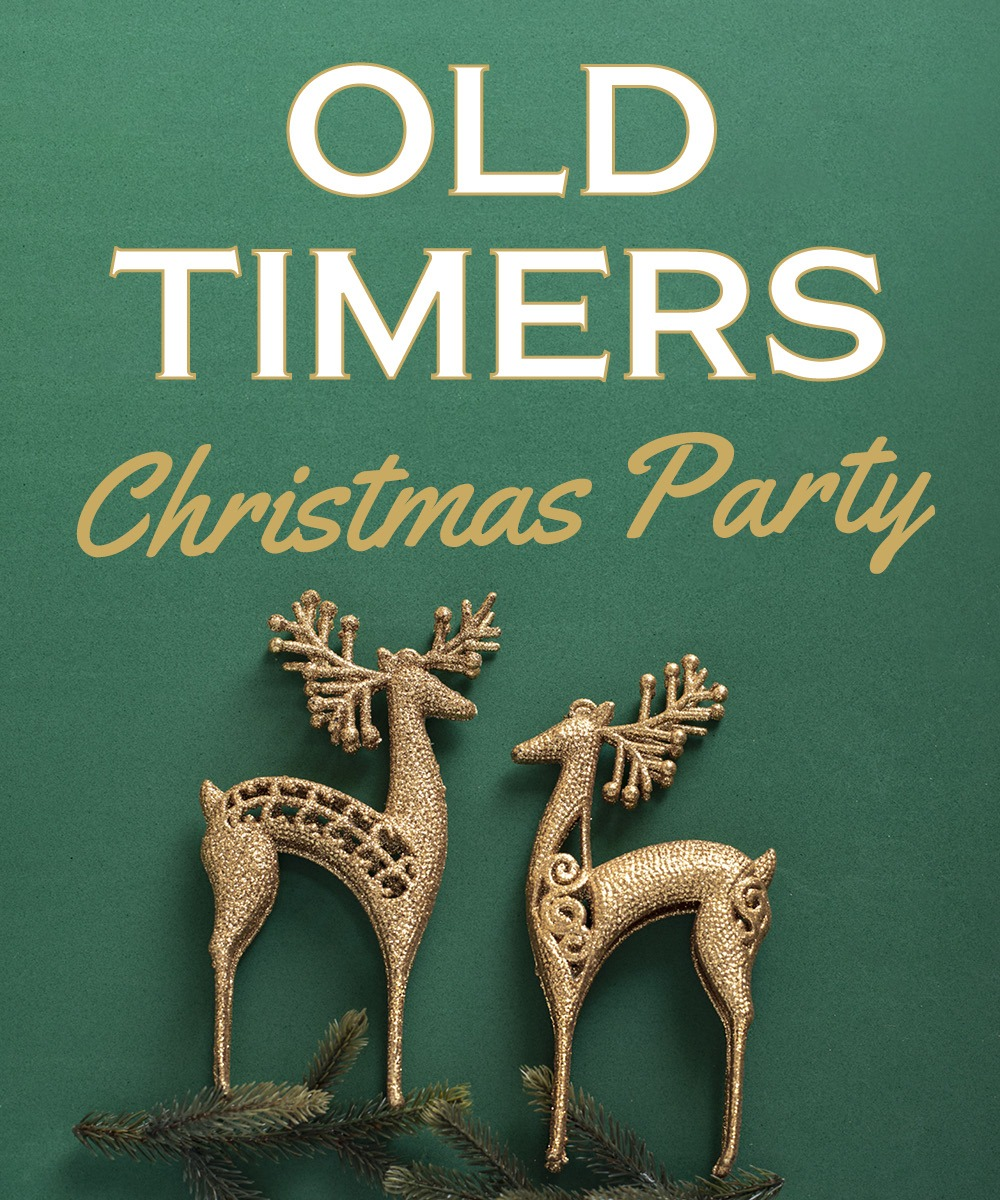 Old Timers Christmas Party, image of reindeer Christmas decoration
