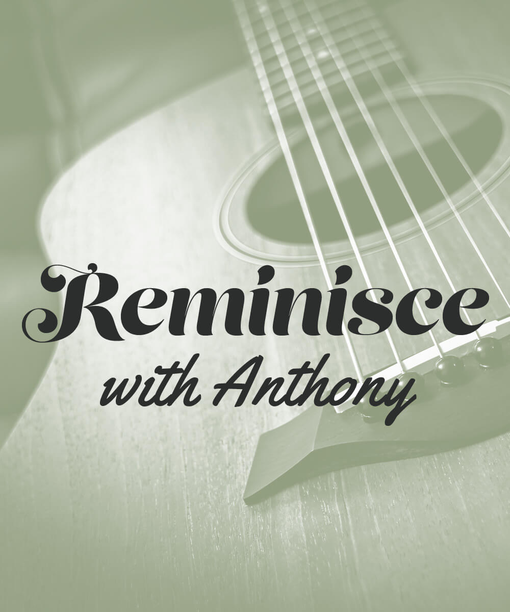 Reminisce with Anthony guitar green overlay
